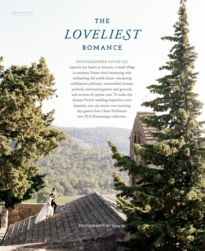 Sylvie Gil's Flutter magazine feature - an editorial shoot done in Provence, France