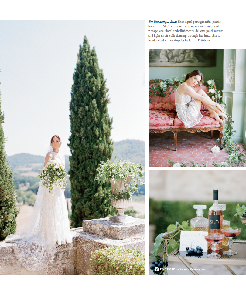 The bride in Sylvie Gil's Flutter magazine feature