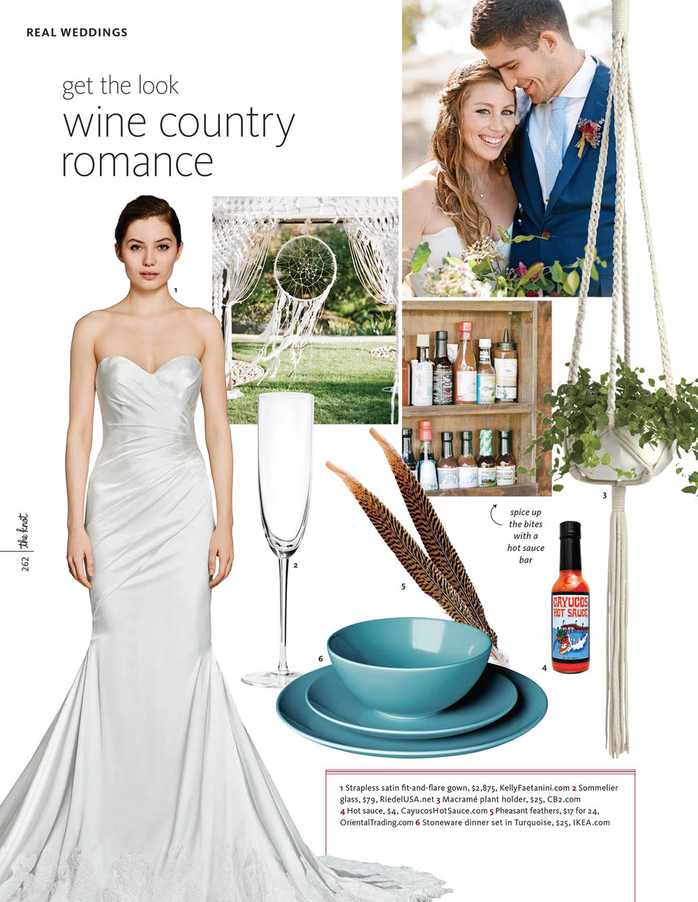 Tally & Sam's feature in The Knot 2016