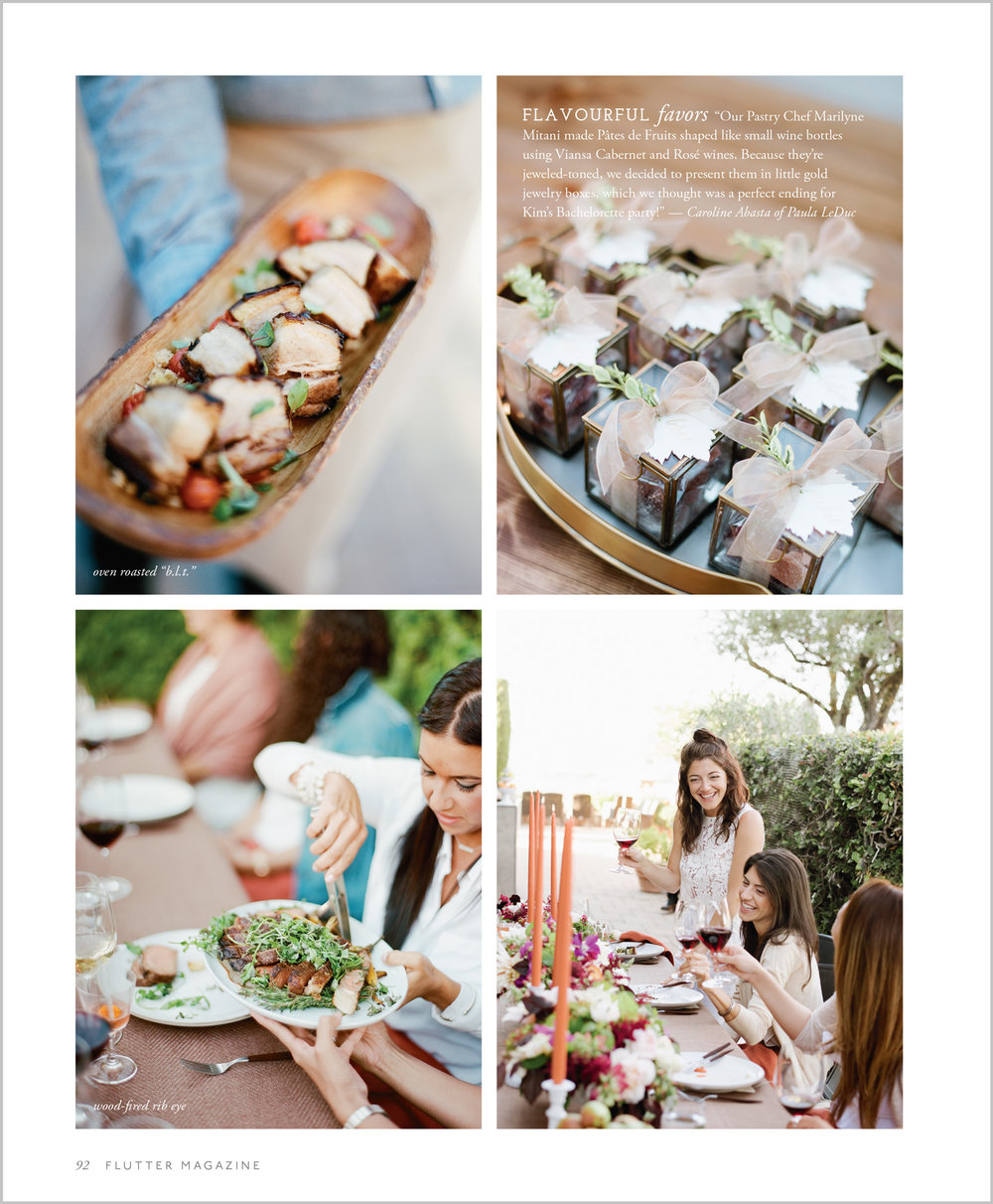 Party favors and delicious Paula Leduc catering; Sylvie Gil Photography