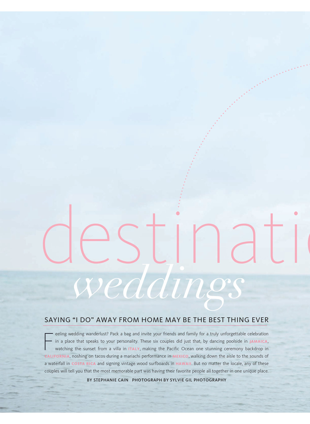 Karen & Mark's Caribbean wedding featured in The Knot National; Sylvie Gil Photography