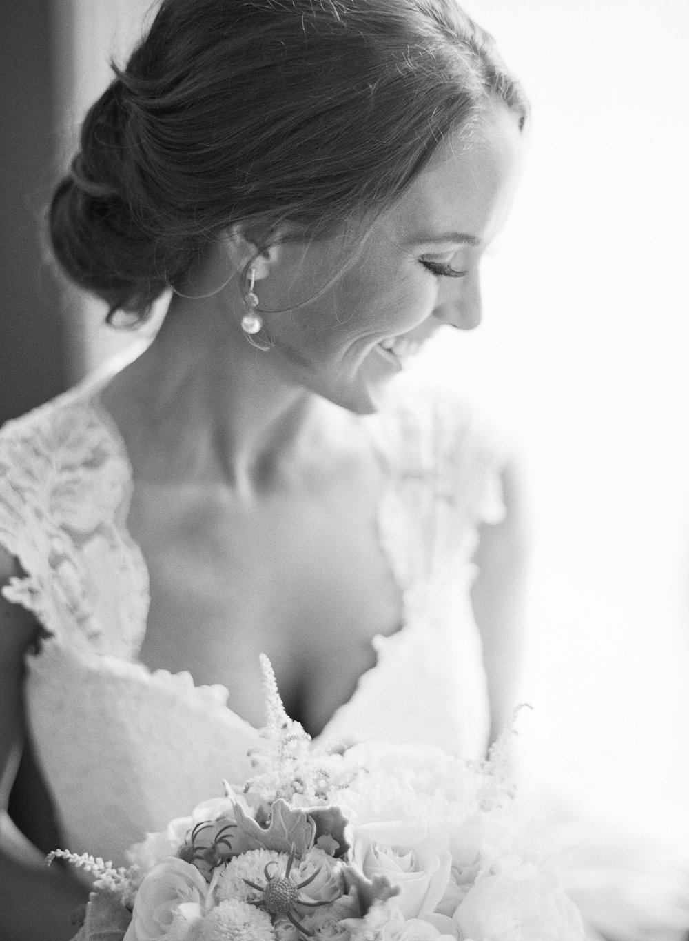 The bride before the Vintage Estates, Yountville wedding; Sylvie Gil Photography