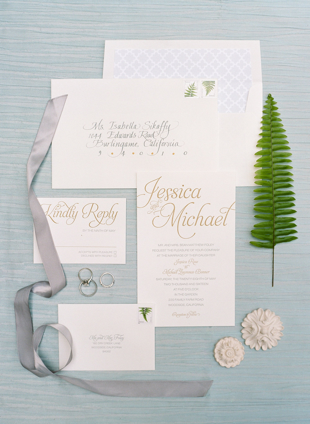 invitation suite by Florabella Studios; Sylvie Gil Photography