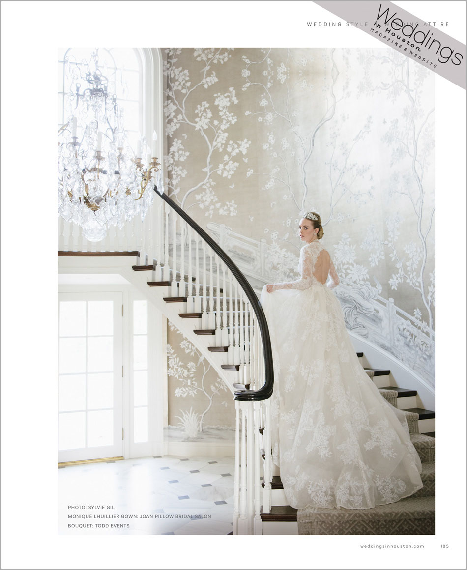 Bride from Weddings in Houston 30th anniversary feature; Sylvie Gil Photography