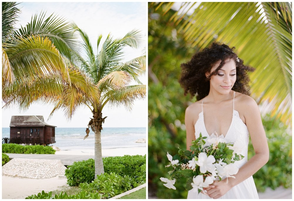 Beach cabana and ethereal bride for Jamaican styled shoot; Sylvie Gil Photography