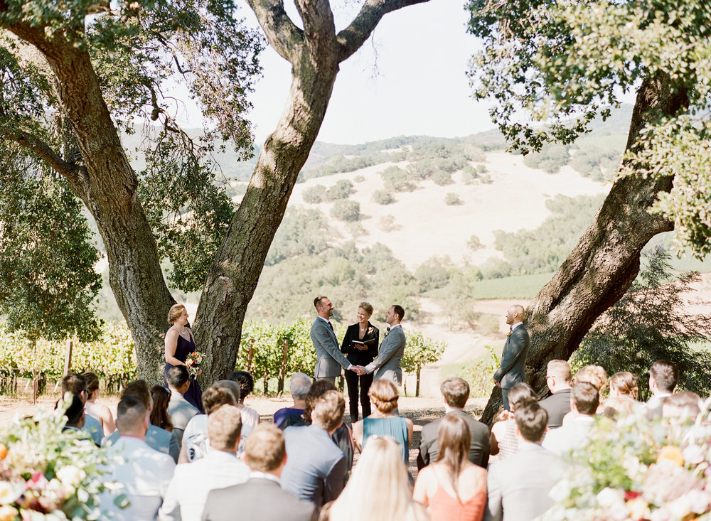 Kunde Family Winery in Napa Valley wedding ceremony; Sylvie Gil Photography