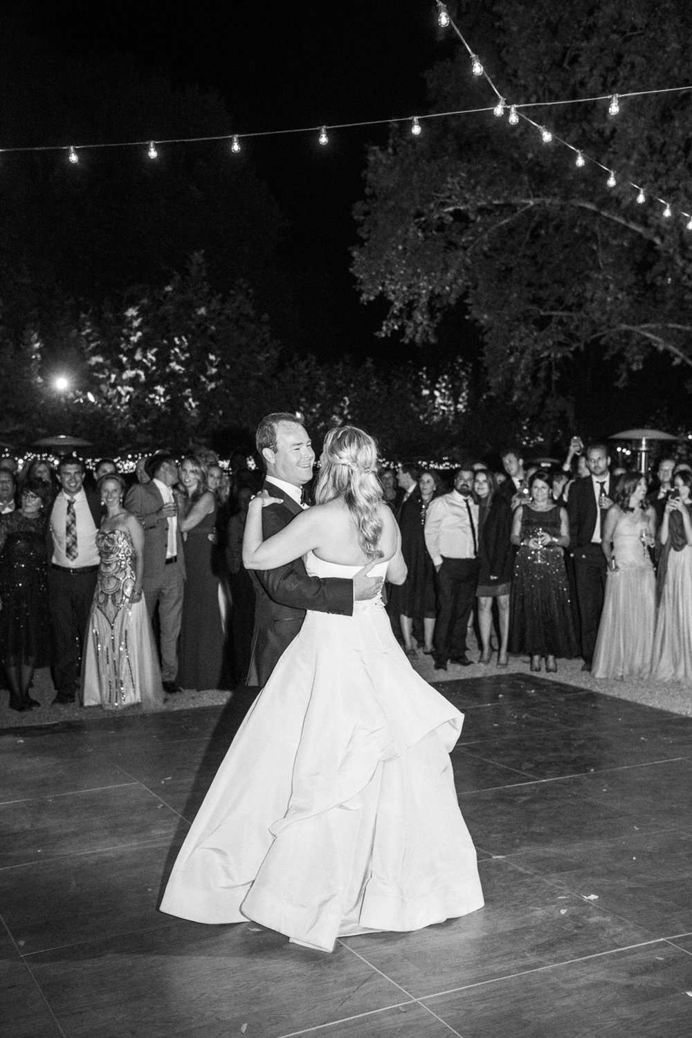 Bride & groom's first dance at Beaulieu Gardens; Sylvie Gil Photography