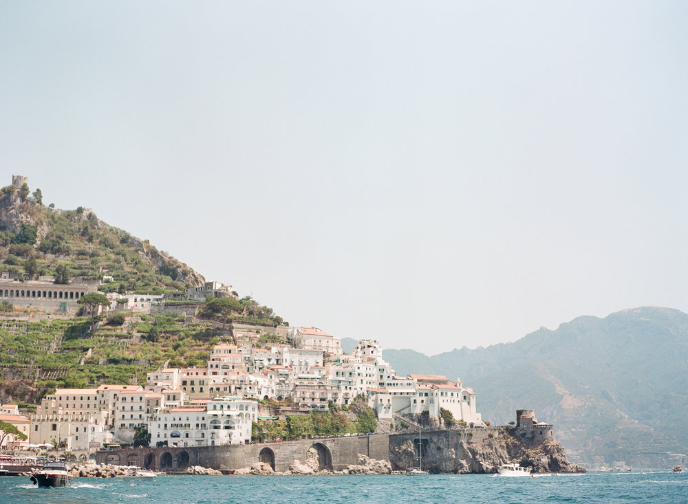 Village of Positano along the Amalfi Coast in Italy; Sylvie Gil Photography