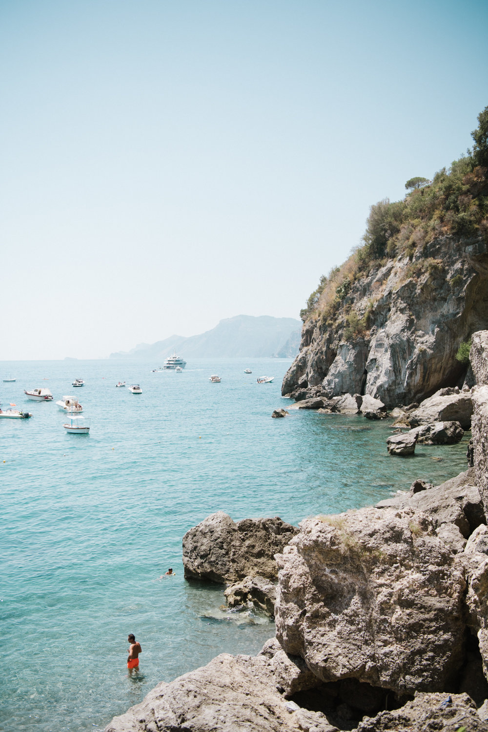 A view of the ocean from the Amalfi Coast in Positano; Sylvie Gil Photography