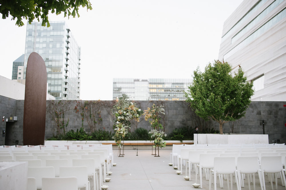 Wedding ceremony space in downtown San Francisco; Sylvie Gil Photography