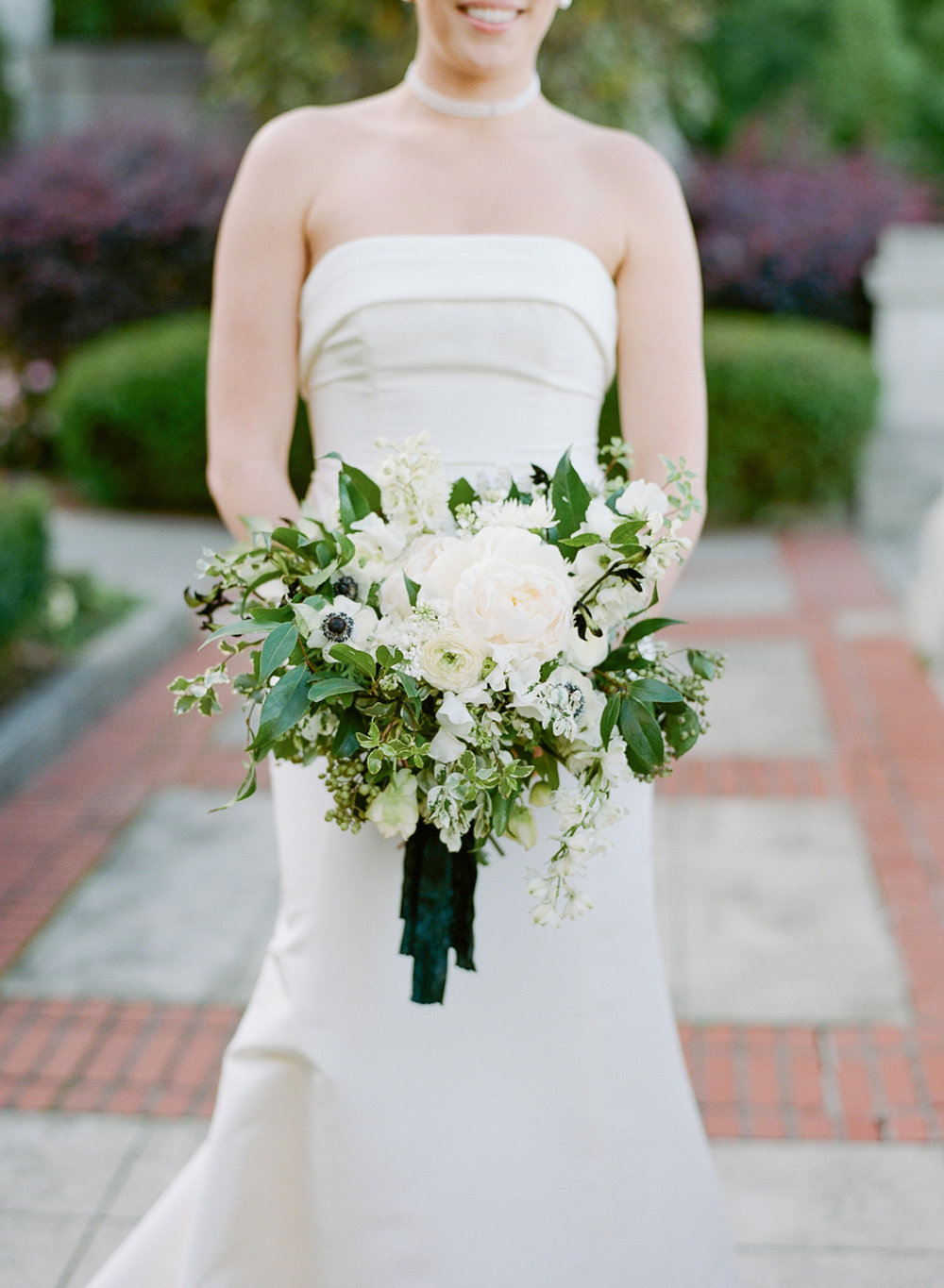 A portrait of the bride's bouquet before the wedding ceremony; Sylvie Gil Photography