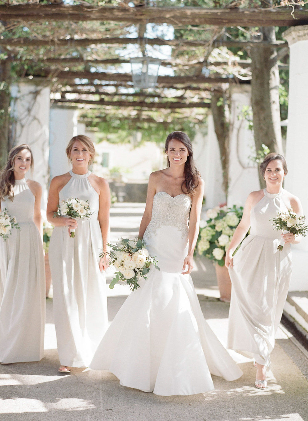 Bridal party portrait in Amalfi Coast, Italy; Sylvie Gil Photography
