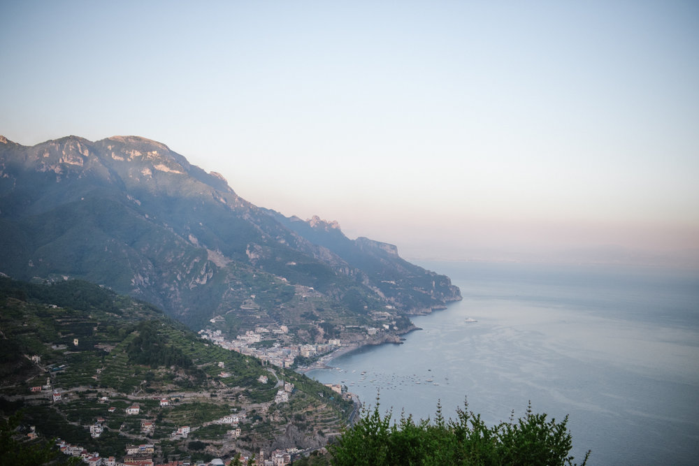 The Amalfi Coast from above the hills of Ravello, Italy; Sylvie Gil Photography