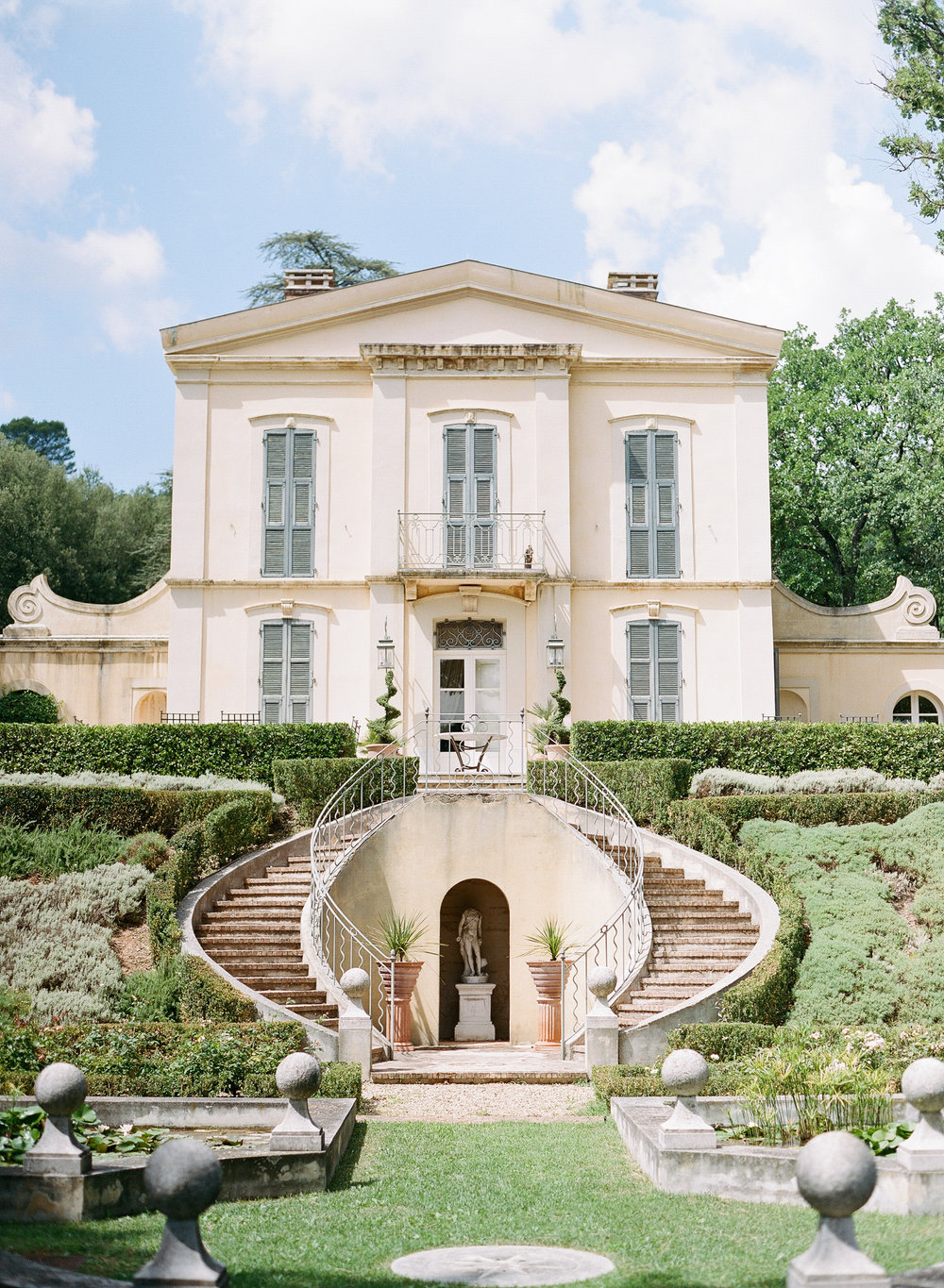 The exterior of a chateau in Provence, France; Sylvie Gil Photography