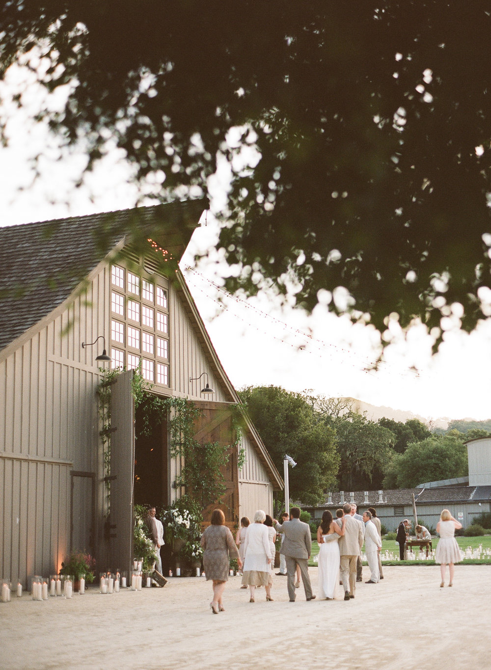 The reception barn at the Santa Lucia Preserve; Sylvie Gil Photography