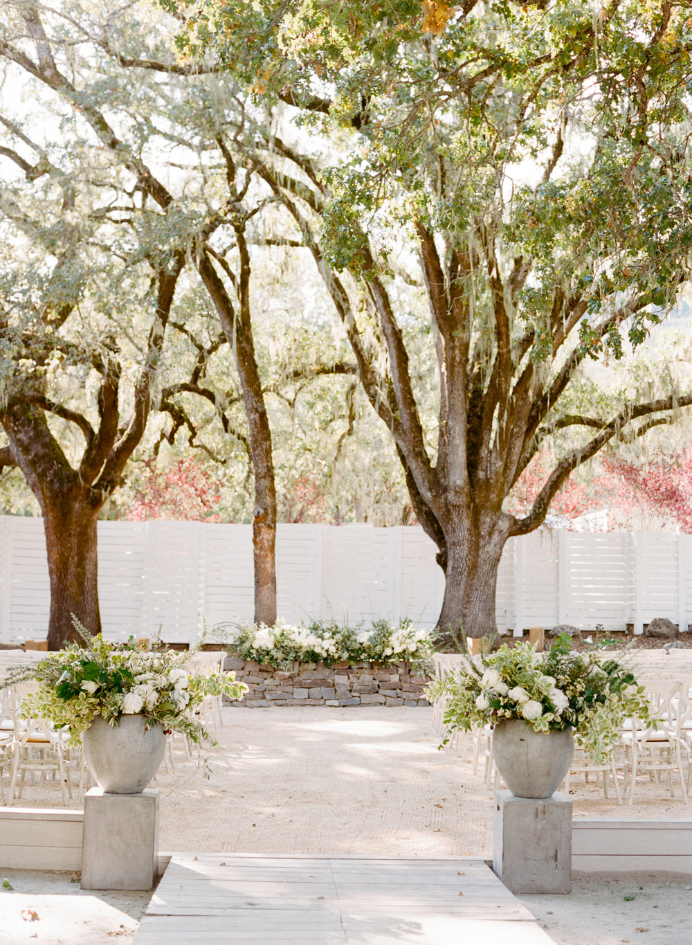 The ceremony space at Durham Ranch in St. Helena, California; Sylvie Gil Photography