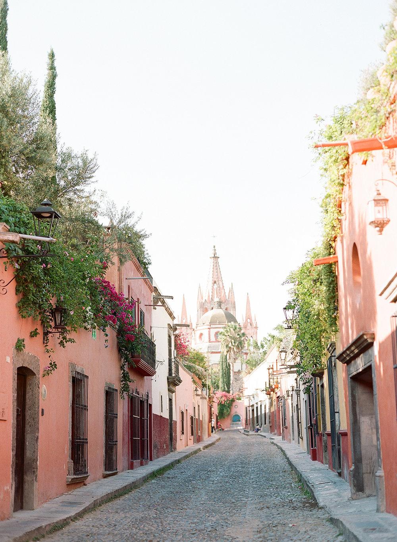 A village street in San Miguel de Allende, Mexico; Sylvie Gil Photography