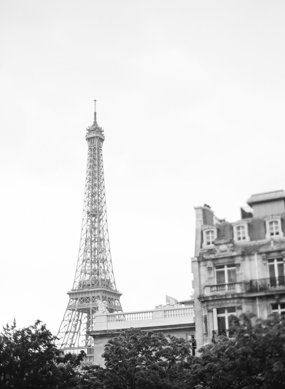 A glimpse of the Eiffel Tower from Pavillon de la Musique in Paris; Sylvie Gil Photography