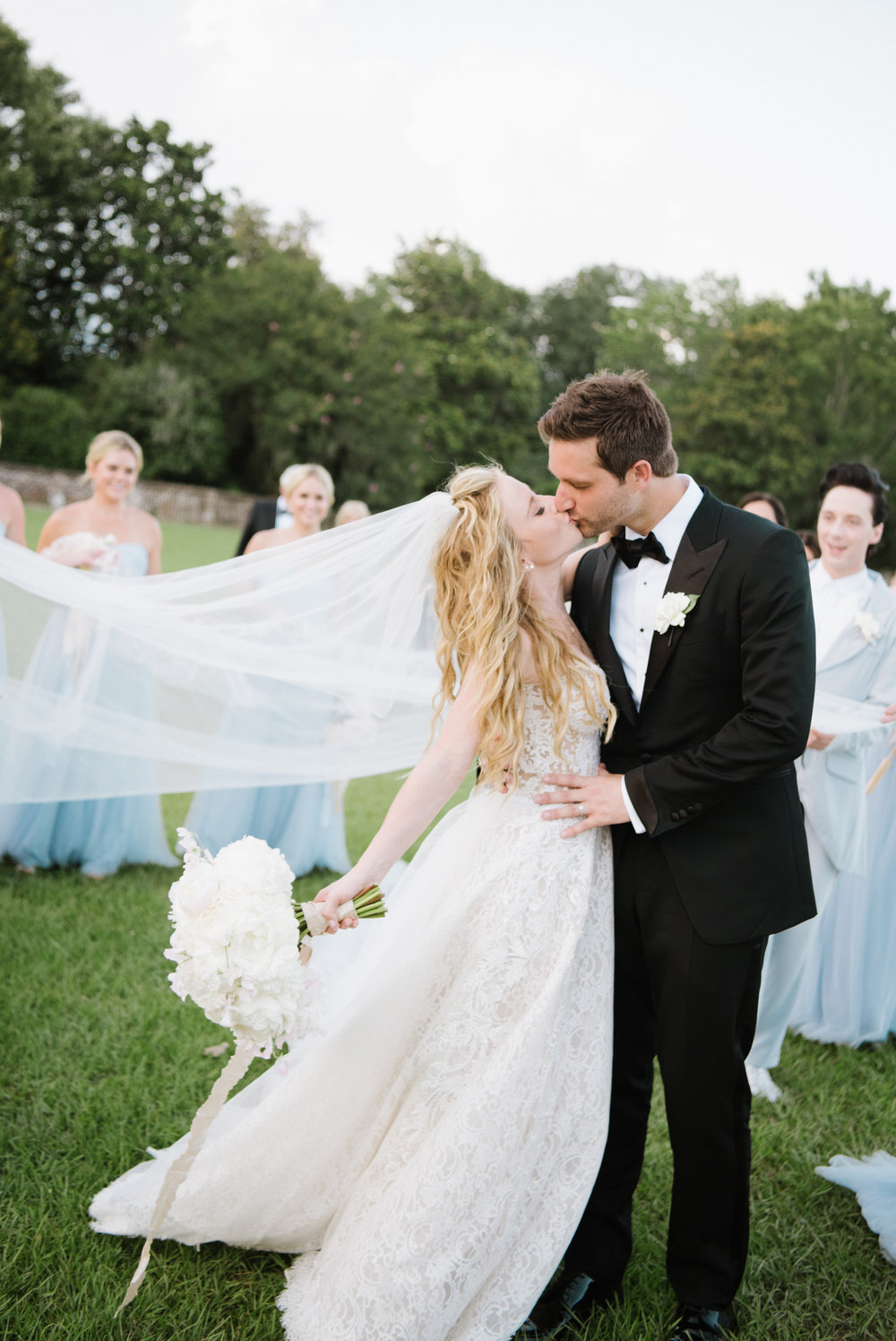 Tara Lipinski and Todd Kapostasy after their Charleston wedding; Sylvie Gil Photography
