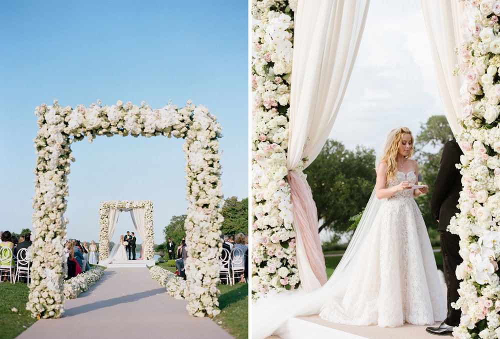 Tara Lipinski and Todd Kapostasy say their vows in Charleston, South Carolina; Sylvie Gil Photography