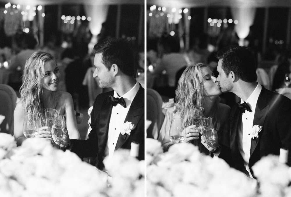 Tara Lipinski and Todd Kapostasy share a sweet moment at their wedding reception in Charleston, South Carolina; Sylvie Gil Photography