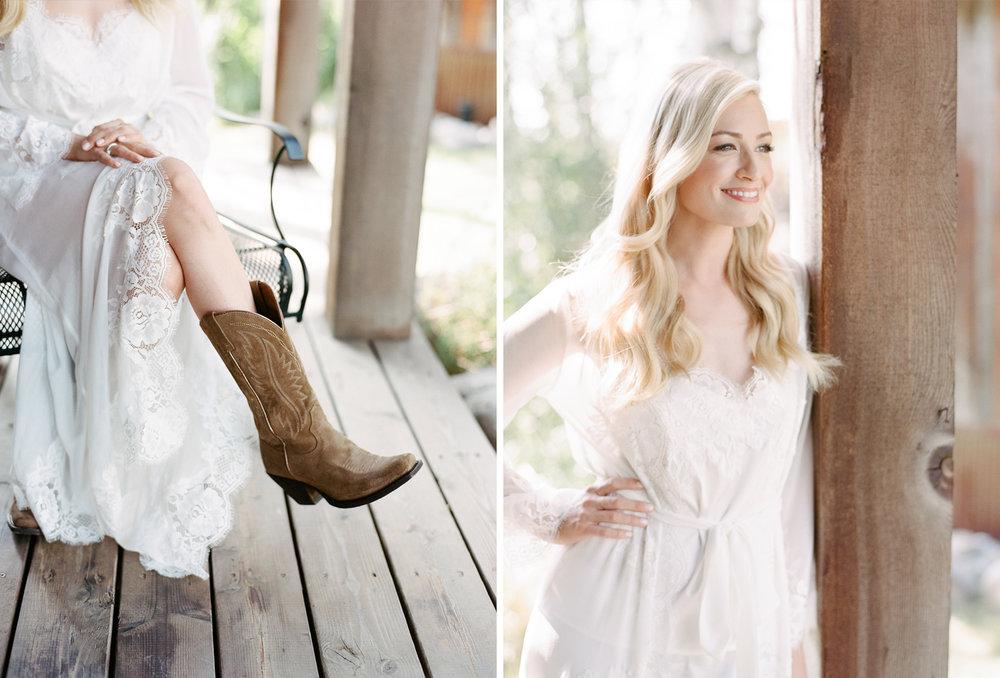 Cowboy boot bride, country bride, wyoming wedding, Sylvie Gil Photography