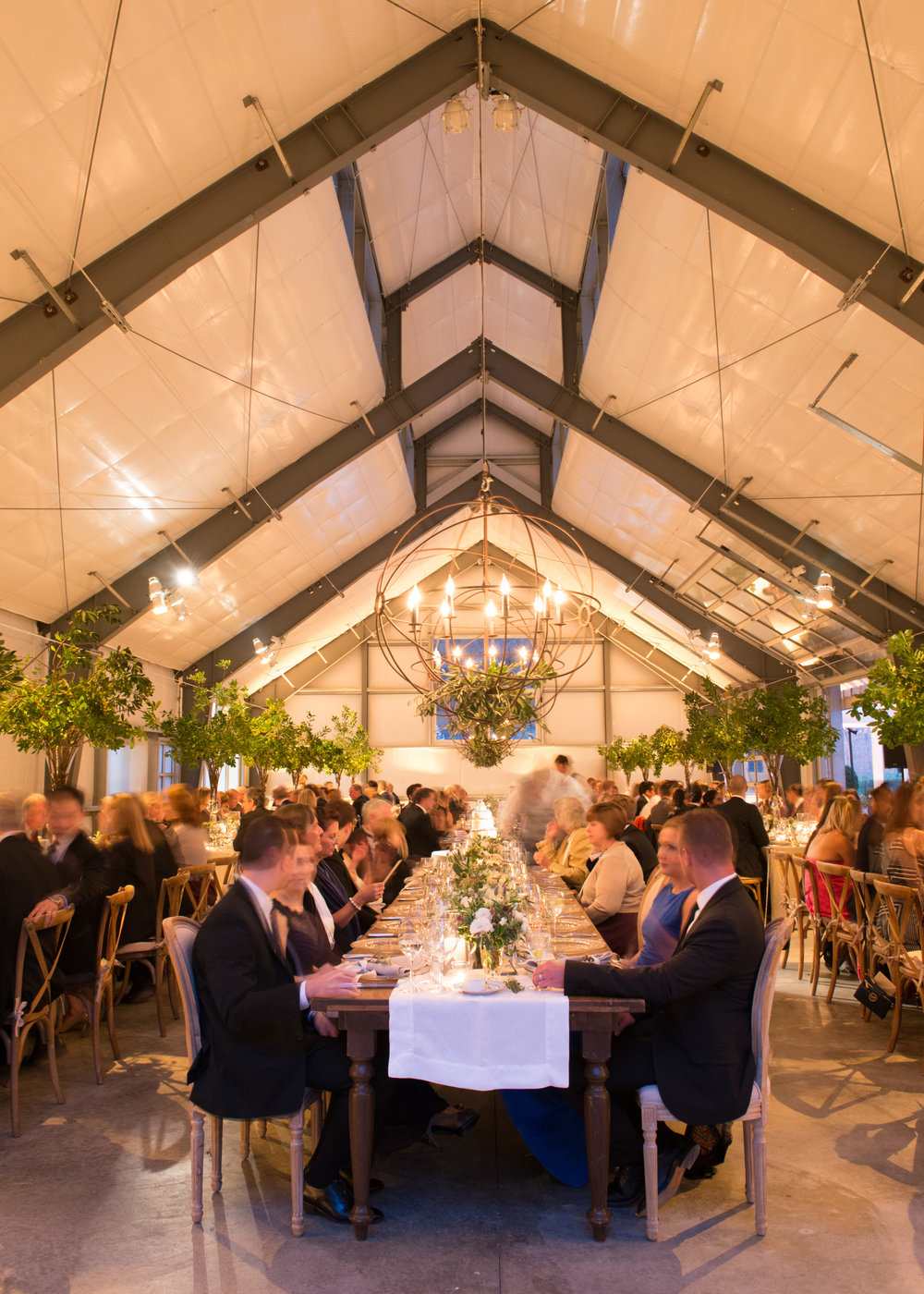 A wedding reception at Durham Ranch, in Napa Valley; Sylvie Gil Photography