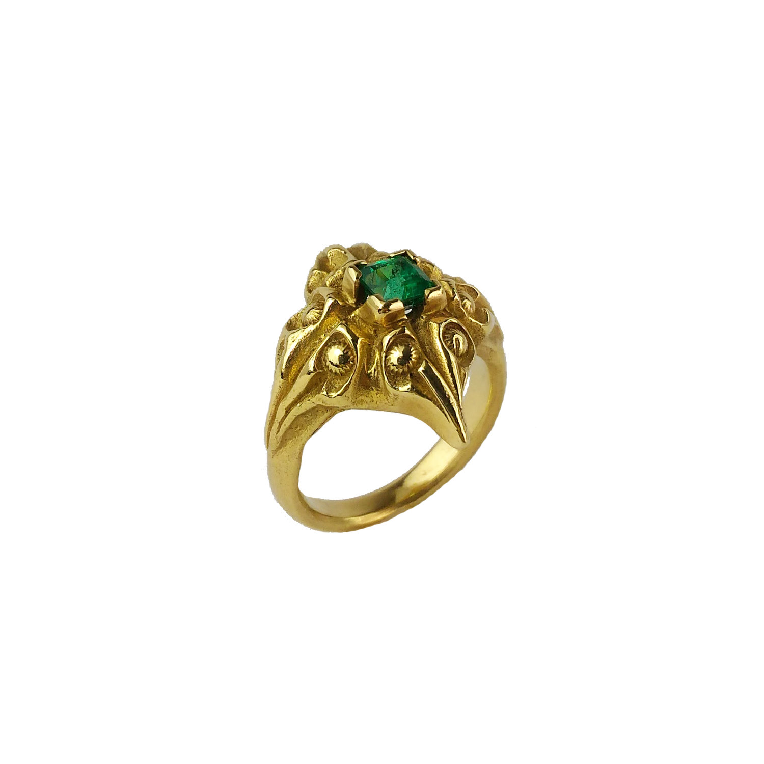 gold yurman emerald renaissance sterling ring silver amethyst david yellow