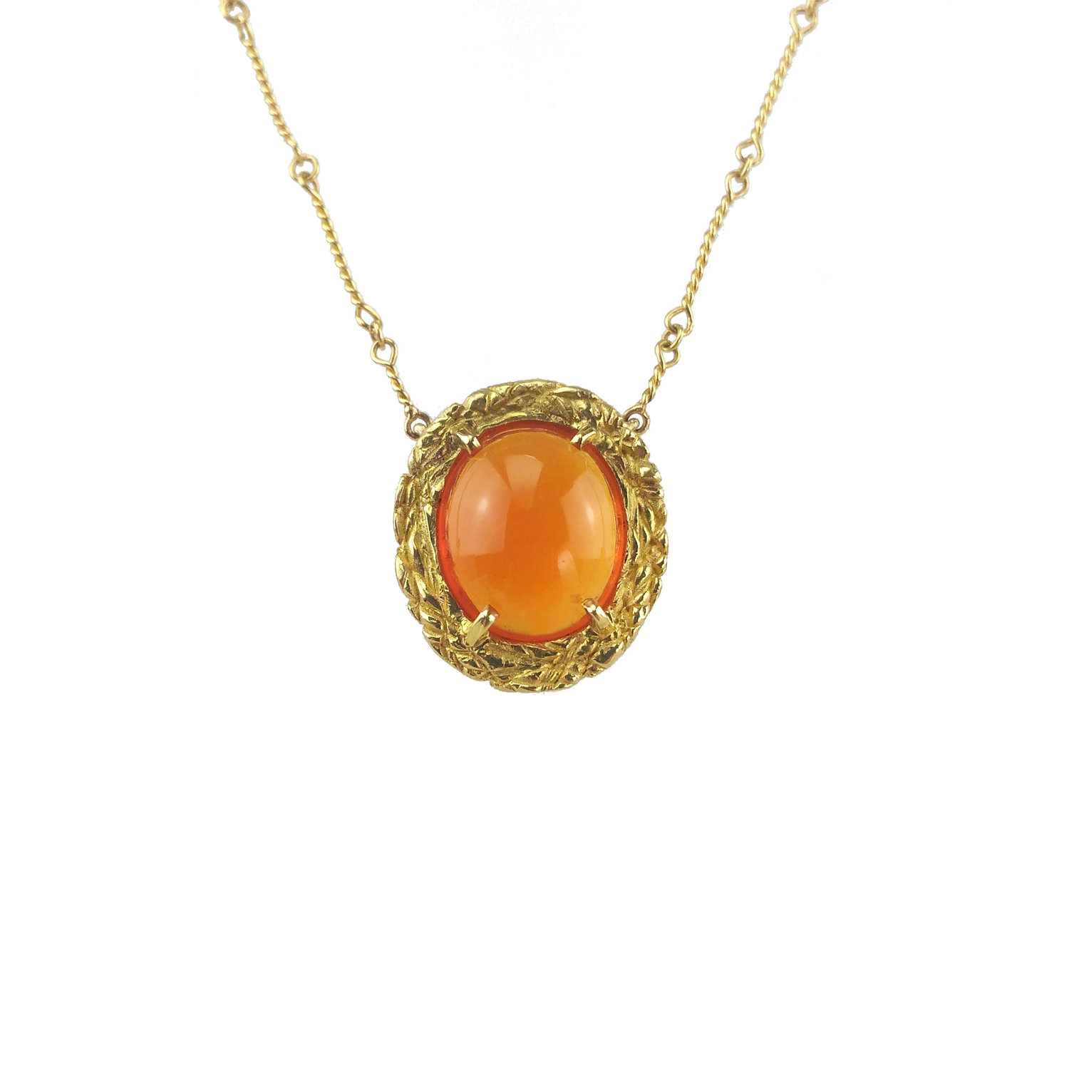 gold gem square dawn necklace fire orange opal with pendant mini tiny silver applepear handcrafted rose sterling products