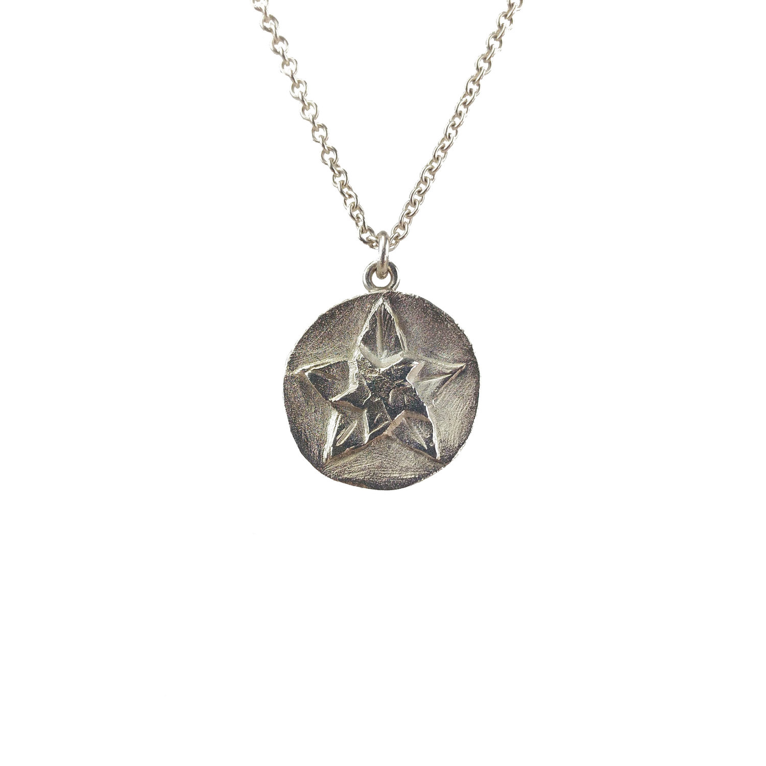 Sterling silver star pendant grinstein jewelry design sterling silver star pendant mozeypictures Image collections