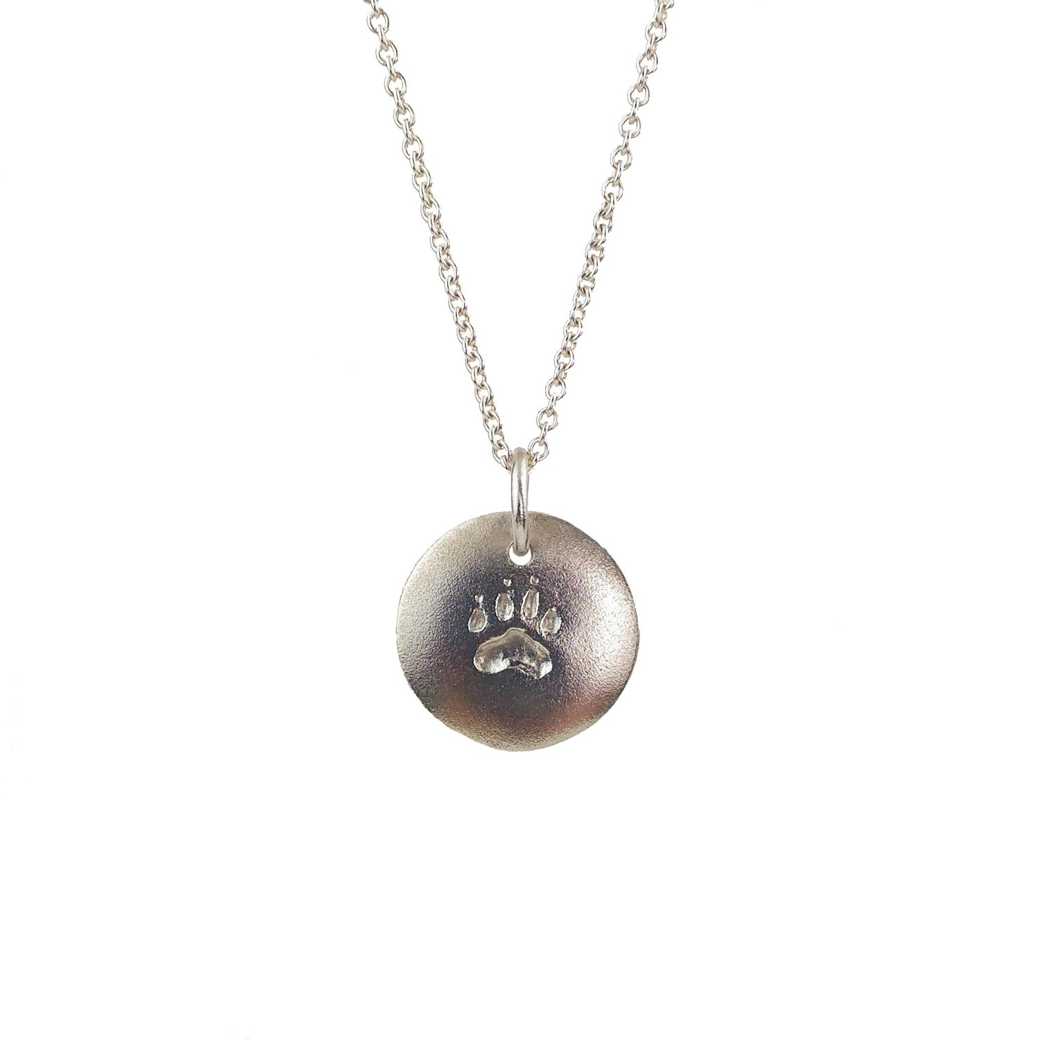 Silver paw print pendant for safari animal rescue grinstein silver paw print pendant for safari animal rescue aloadofball