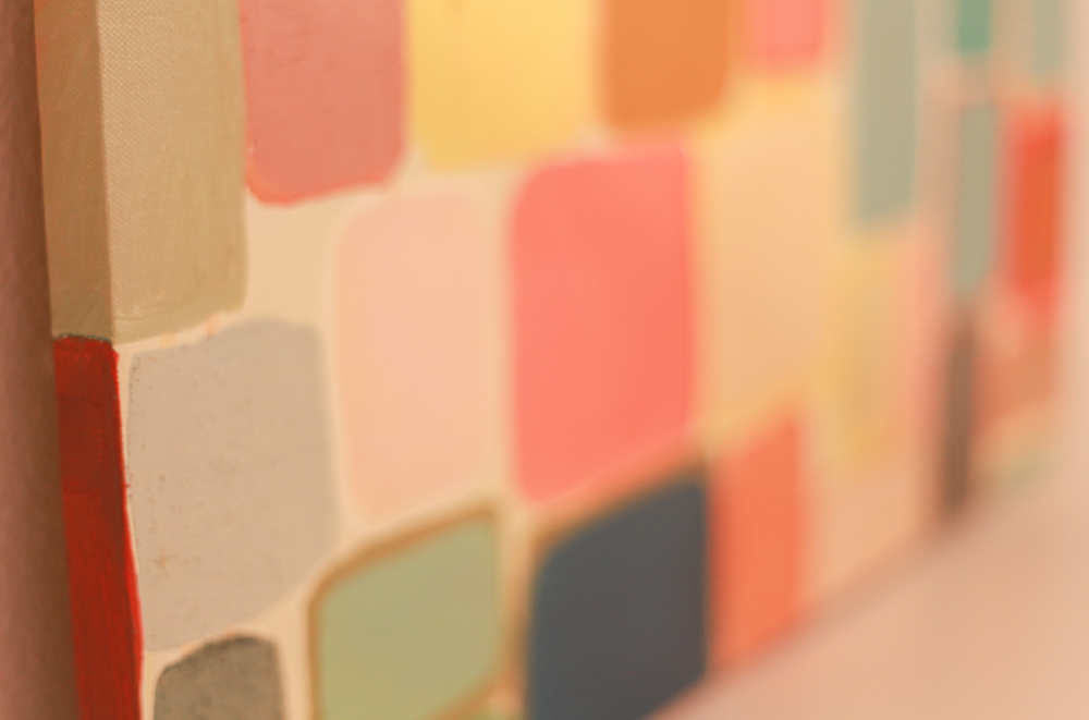 yellow danish squares painting // shop >>>