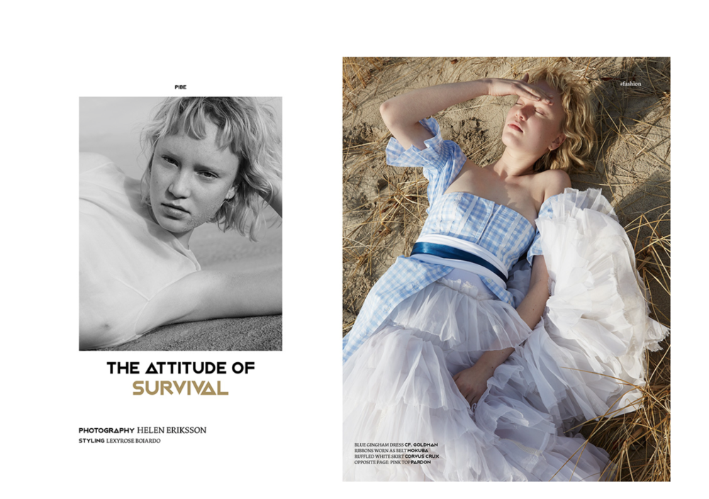The Art of Survival,    Pibe Magazine-   Issue 2, photographed by Helen Eriksson