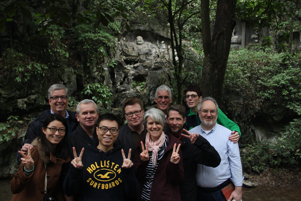 Dean Horejsi with fellow travelers in China