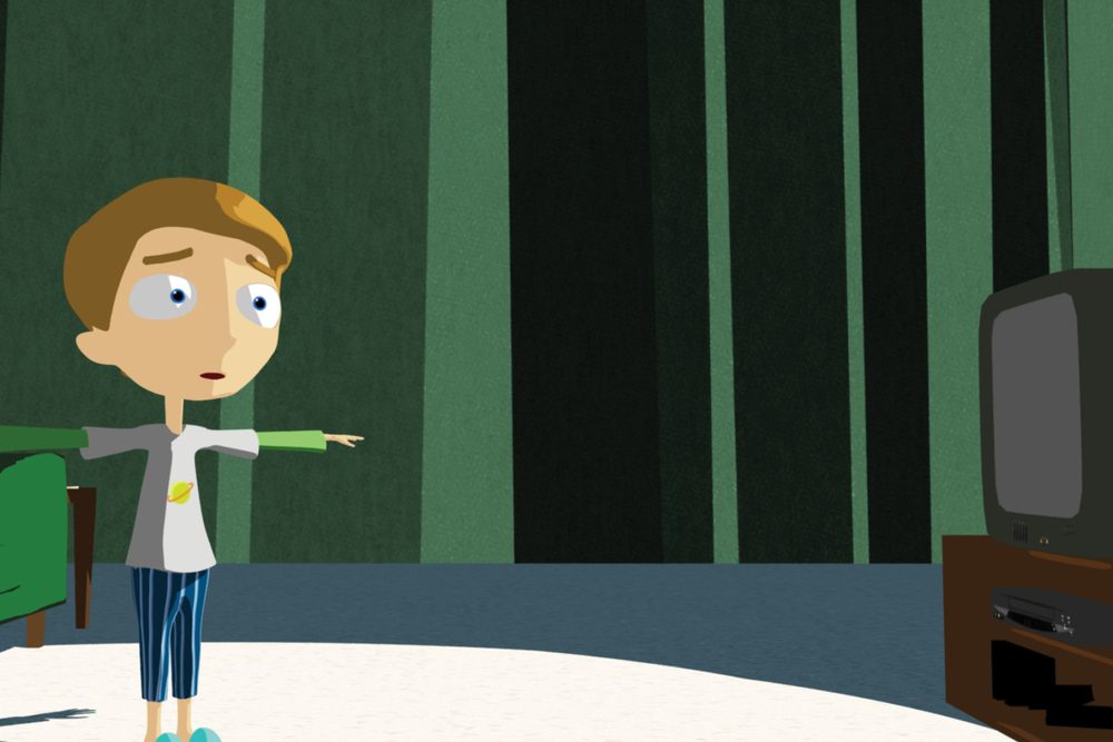 A still from the work of animation student, Mitchell Guarente.