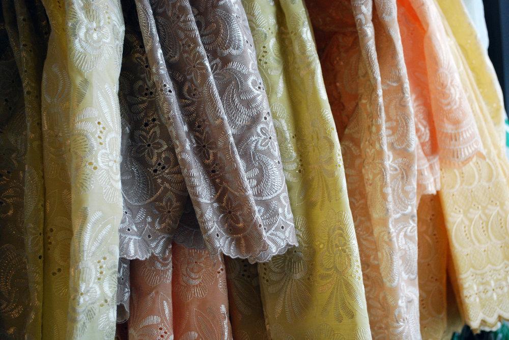 Custom dyed lace.
