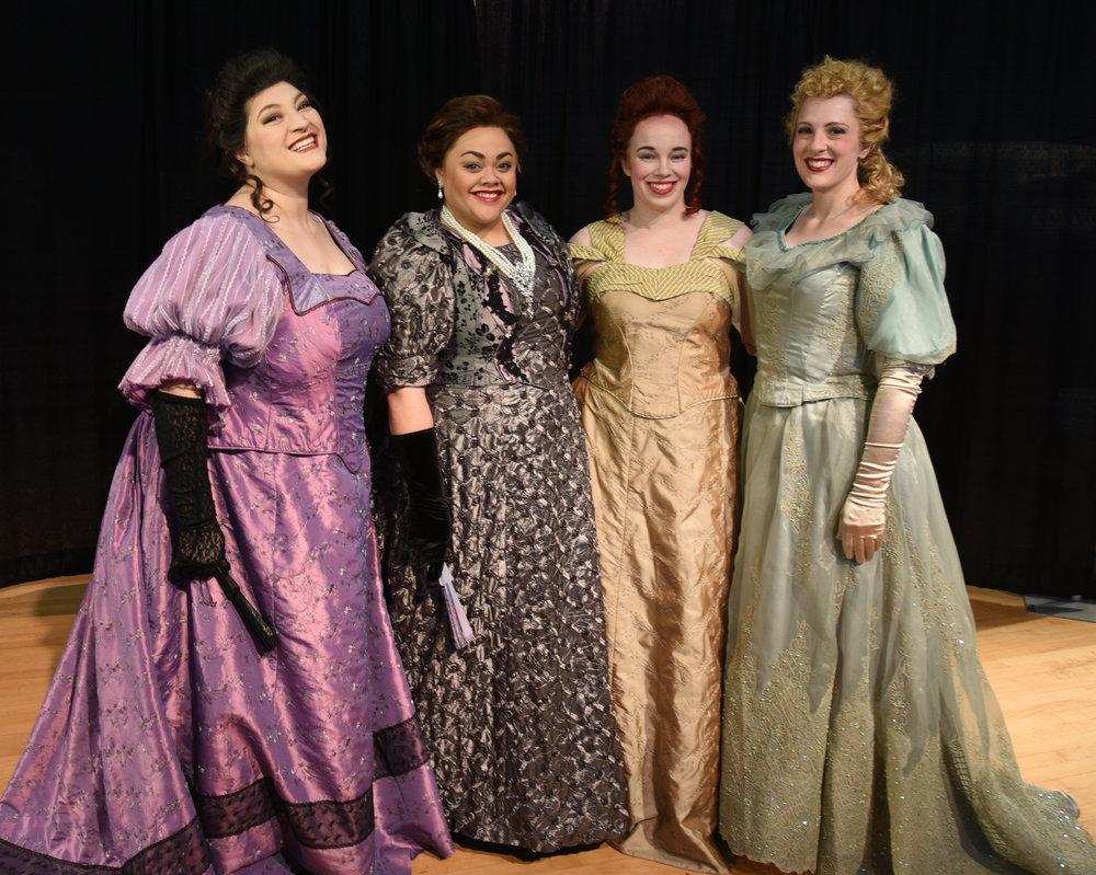 Left to right: Students Lennika Wright,Robyn Van Leigh,Whitney Page and ShaRee Larson.Photo credit Robert Breault