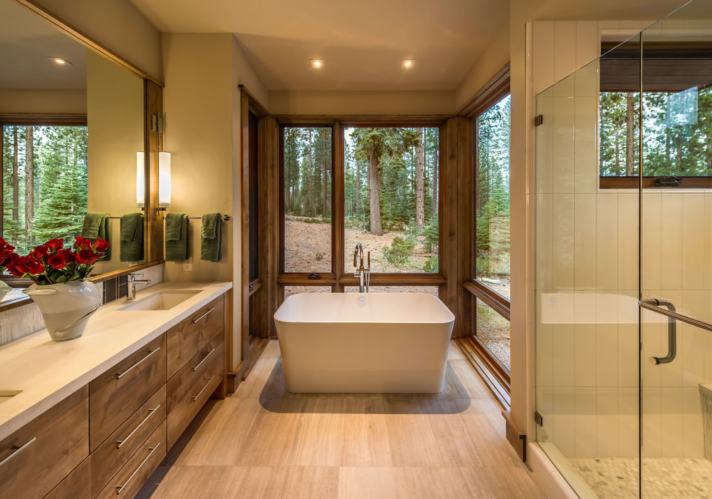Contractor: Loverde Builders   Interior Finishes: WaltonAE Photography: Vance Fox Square Footage: 3,226 sf Features: Water Feature + Bridged Link to Garage, Firepit Terrace, Collapsible Window Wall at Living Room bedrooms: 3 bathrooms: 3.5