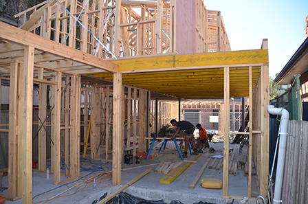 Coleman Architects: Upstairs Framing