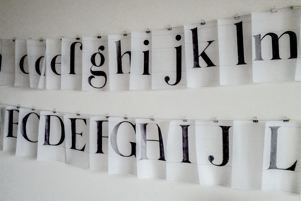 Letters in progress