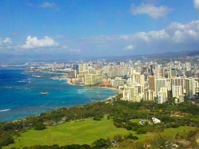 Waikiki from Daimond Head Lookout