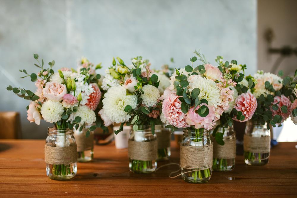 Fremont Foundry Wedding Flowers Twine Mason Jar Vases