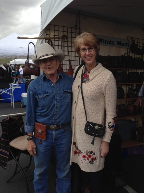 Bought a purse from this leather artist from Four Winds West.