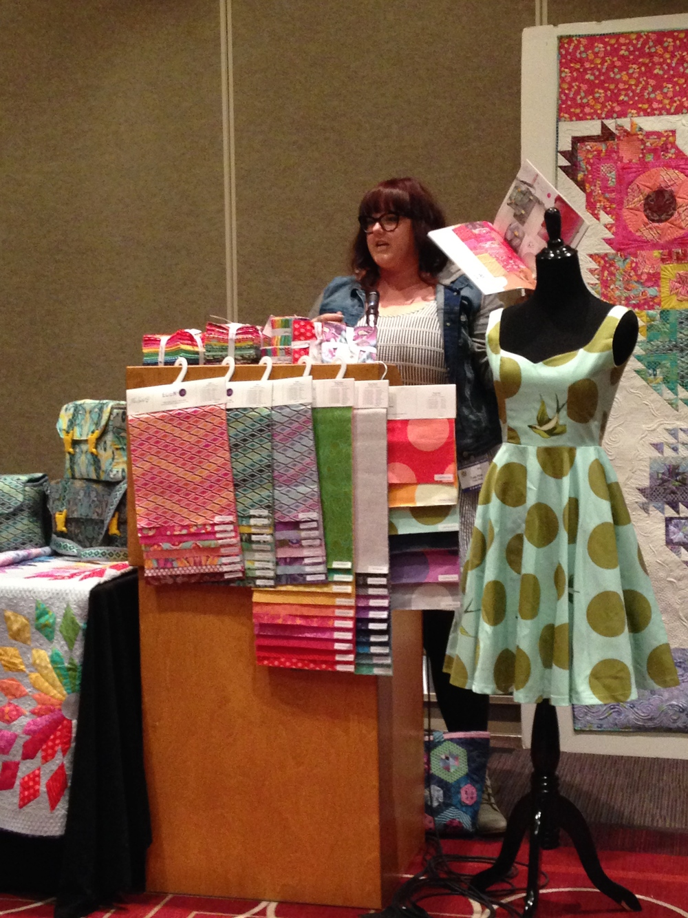 Tula Pink talking about her new fabric line