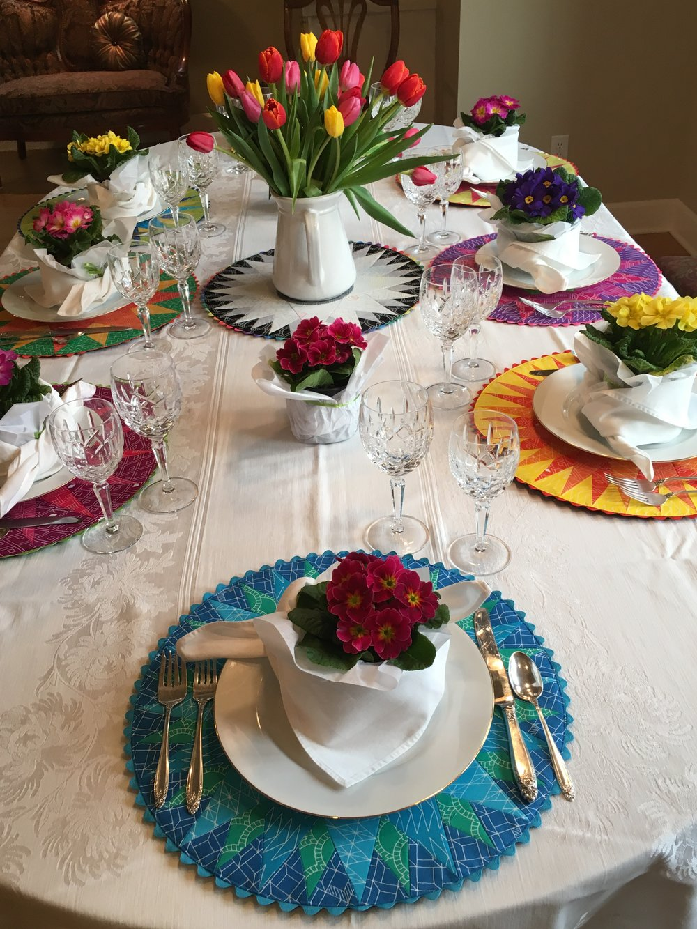 Add dishes - and you are ready for a colorful dinner party!