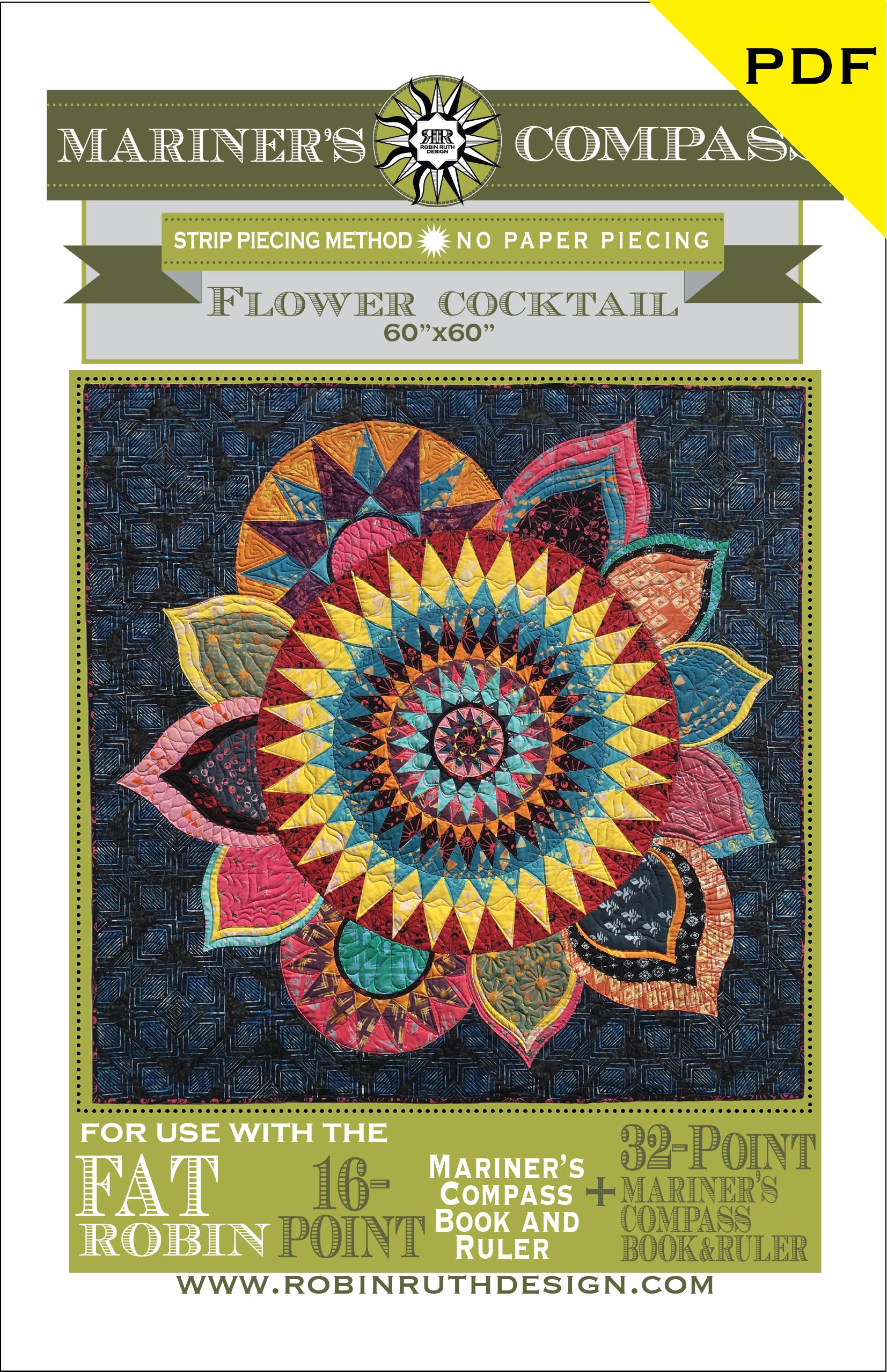 Strip cocktail quilt pattern