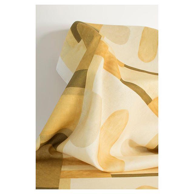 Blocks collection | printed linen | Ochre . . #luxury #interiors #interiordesign #interiorfabrics