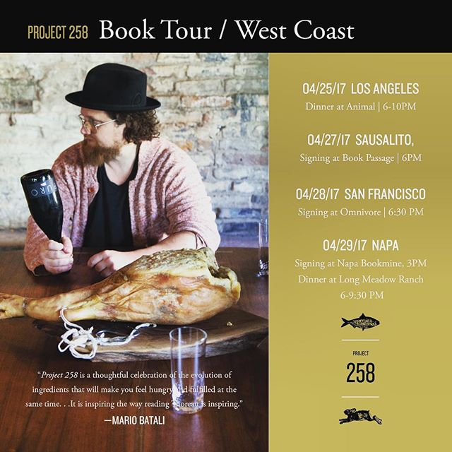 West Coast baby!! Book Tour + Events for #project258 @cookblog @zakarypelaccio
