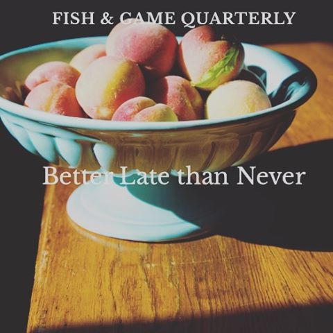 Fish & Game Summer 2016 Quarterly is out.  Link in our bio / www.fishandgamequarterly.com. @fishgamehudson