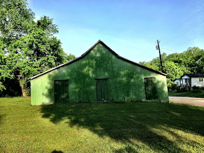 William Christenberry's green barn.